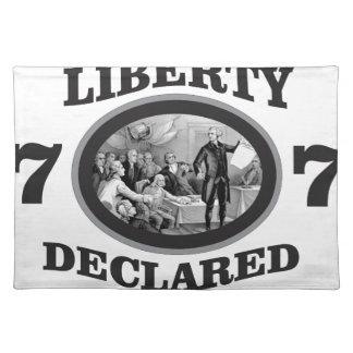 black liberty declared placemat