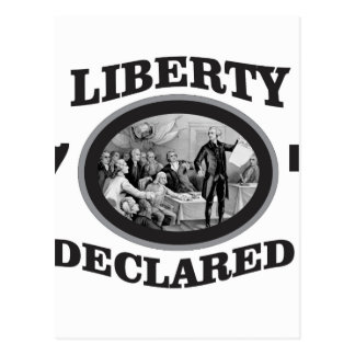 black liberty declared postcard