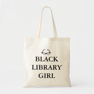 Black Library Girl Tote Bag