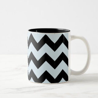 Black & Light Blue Zig Zag Mug