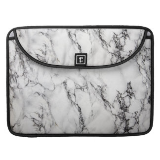 Black Light Gray And White Marble Stone Pattern Sleeve For MacBook Pro