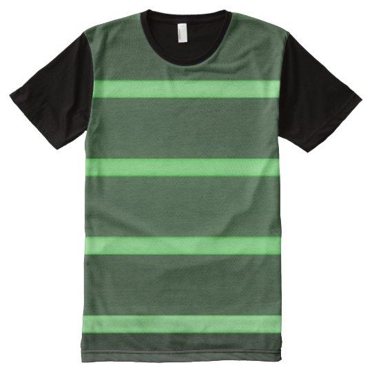 BLACK LIGHT GREEN ALLOVER T-SHIRT
