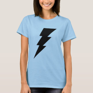 Black Lightning Bolt Women's shirt