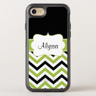 Black Lime Green Chevron OtterBox Symmetry iPhone 7 Case