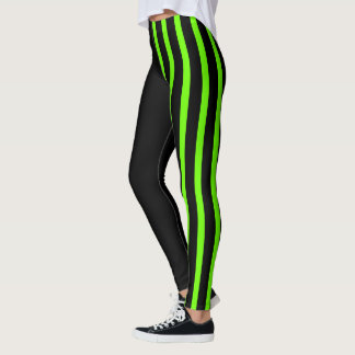 Black & Lime Jester Leggings