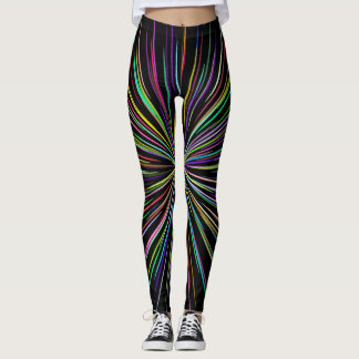 Black line explosion leggings