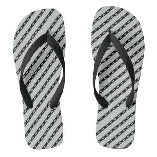 Black Lined Flip Flops