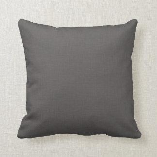 Black Linen Throw Pillow