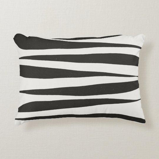 Black Lines Accent Pillow