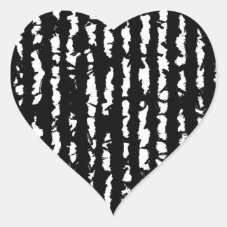 black lines heart sticker