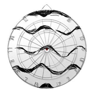 Black lines pattern dartboard