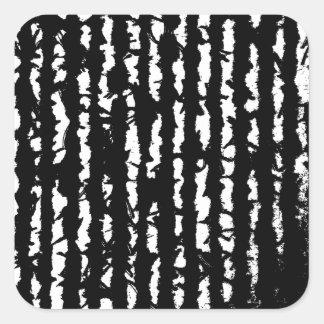 black lines square sticker