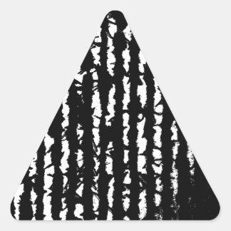 black lines triangle sticker