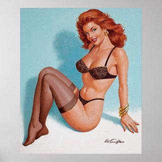 Black Lingerie, 1993 Pin Up Art Poster