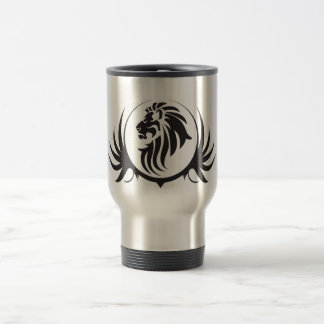 Black Lions Head Travel Mug