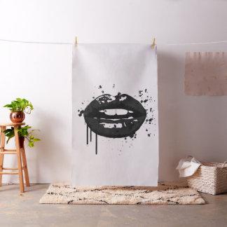 Black lips stylish fashion makeup artist fabric