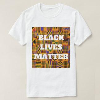 BLACK LIVES MATTER African Kente Cloth Print T-Shirt