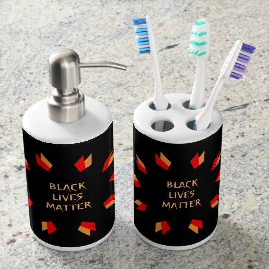 Black Lives Matter Bathroom Set
