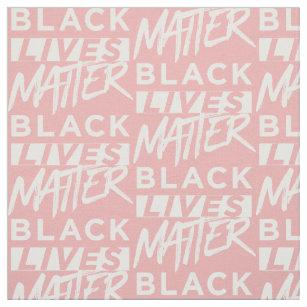 Black lives matter Blush Pink Rose Gold Fabric