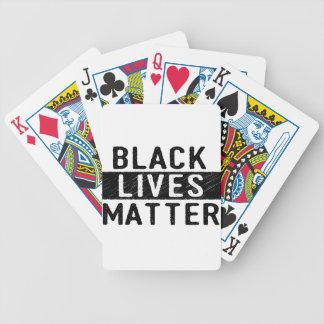 Black Lives Matter - Bold Design - Black Pride Bicycle Playing Cards