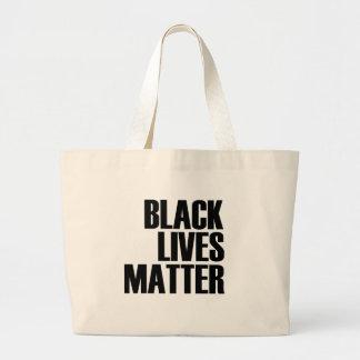 Black Lives Matter - Bold Design - Black Pride Large Tote Bag
