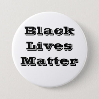 Black Lives Matter Button Black Text
