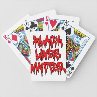 Black Lives Matter Dripping Graffiti Poker Deck