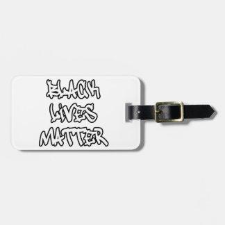 Black Lives Matter Graffiti Bag Tag