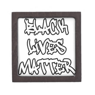 Black Lives Matter Graffiti Premium Trinket Box