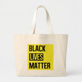 Black Lives Matter Large Tote Bag