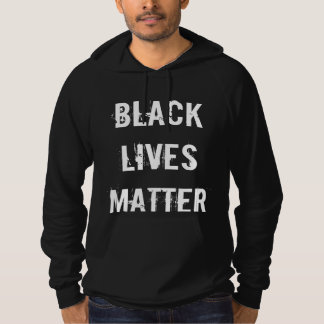 BLACK LIVES MATTER! Men's Black Hoodie