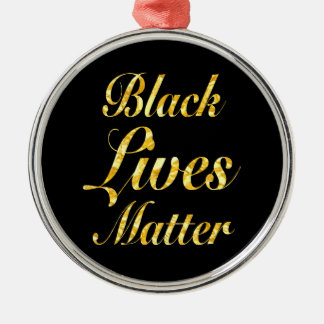 """BLACK LIVES MATTER"" METAL ORNAMENT"
