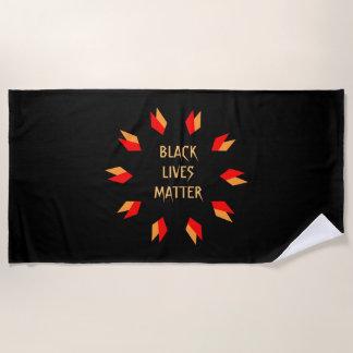 Black Lives Matter Red Gold  Beach Towel
