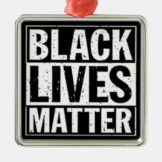 """""""BLACK LIVES MATTER"""" Silver-Colored SQUARE ORNAMENT"""