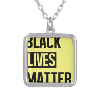 Black Lives Matter Silver Plated Necklace