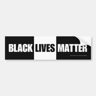 Black lives matter, v.2 bumper sticker