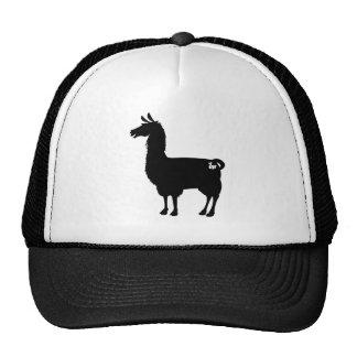 Black Llama Cap Trucker Hat