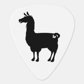 Black Llama Guitar Pick