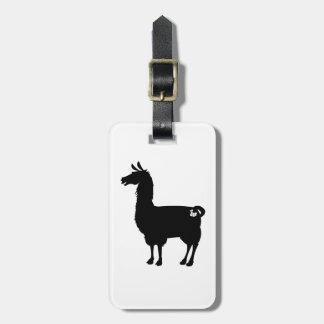 Black Llama Luggage Tag