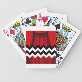 black lodge chevron bicycle playing cards