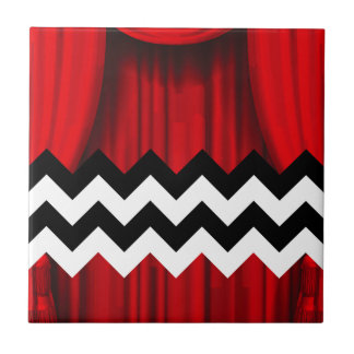 black lodge chevron tile