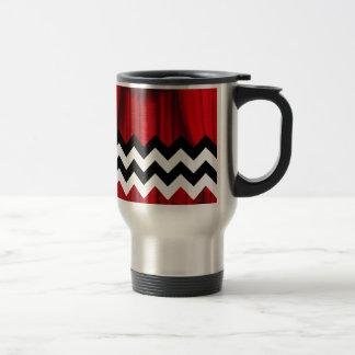 black lodge chevron travel mug