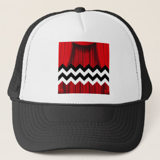 black lodge chevron trucker hat