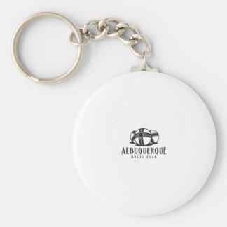 Black Logo Abq bocce Club Basic Round Button Keychain
