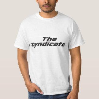 Black logo on white men's T-Shirt