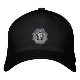 black logo VR hat