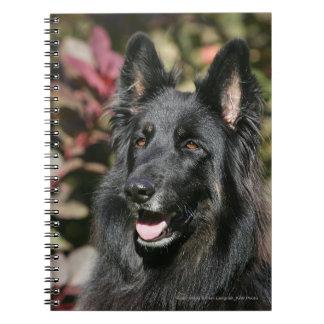 Black Long Haired German Shepherd Note Book