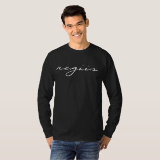 "Black long-sleeve spelling ""regiis"" T-Shirt"