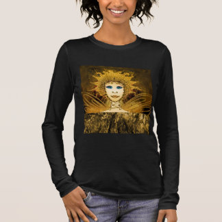 Black Long Sleeve T-Shirt with a Gold-Yellow Fairy