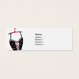 Black Longlinebra - Skinny Mini Business Card
